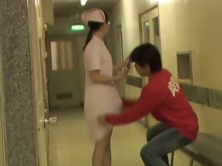 Cute Japanese nurse got into..