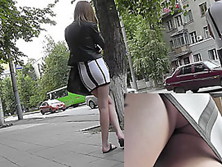 Tight skirt lets enjoy this..