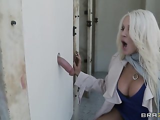 Glory hole sex action with..