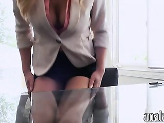 Sexy blonde woman asshole..