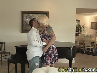 Real stepmom has anal sex