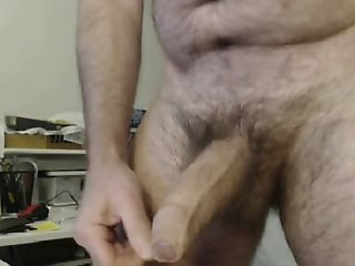 HAIRY DAD BIG THICK UNCUT..