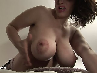 Busty Pregnant mature MOM..