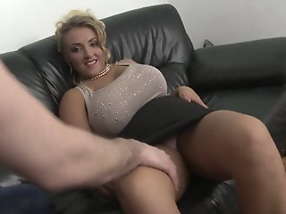blonde milf with big natural..