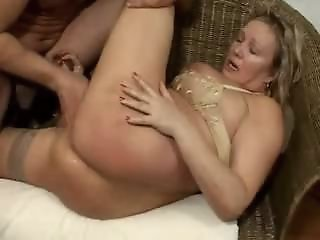 Busty Blonde Mature in..
